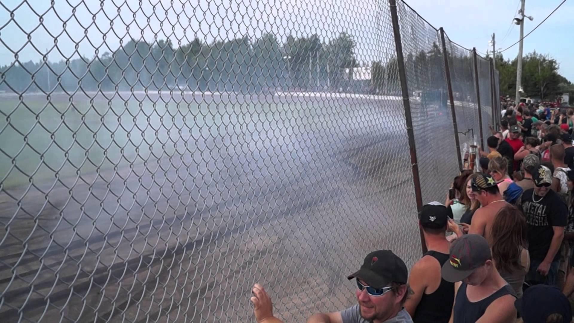 Semi Smoking Tires - AtNat Burnouts 2014