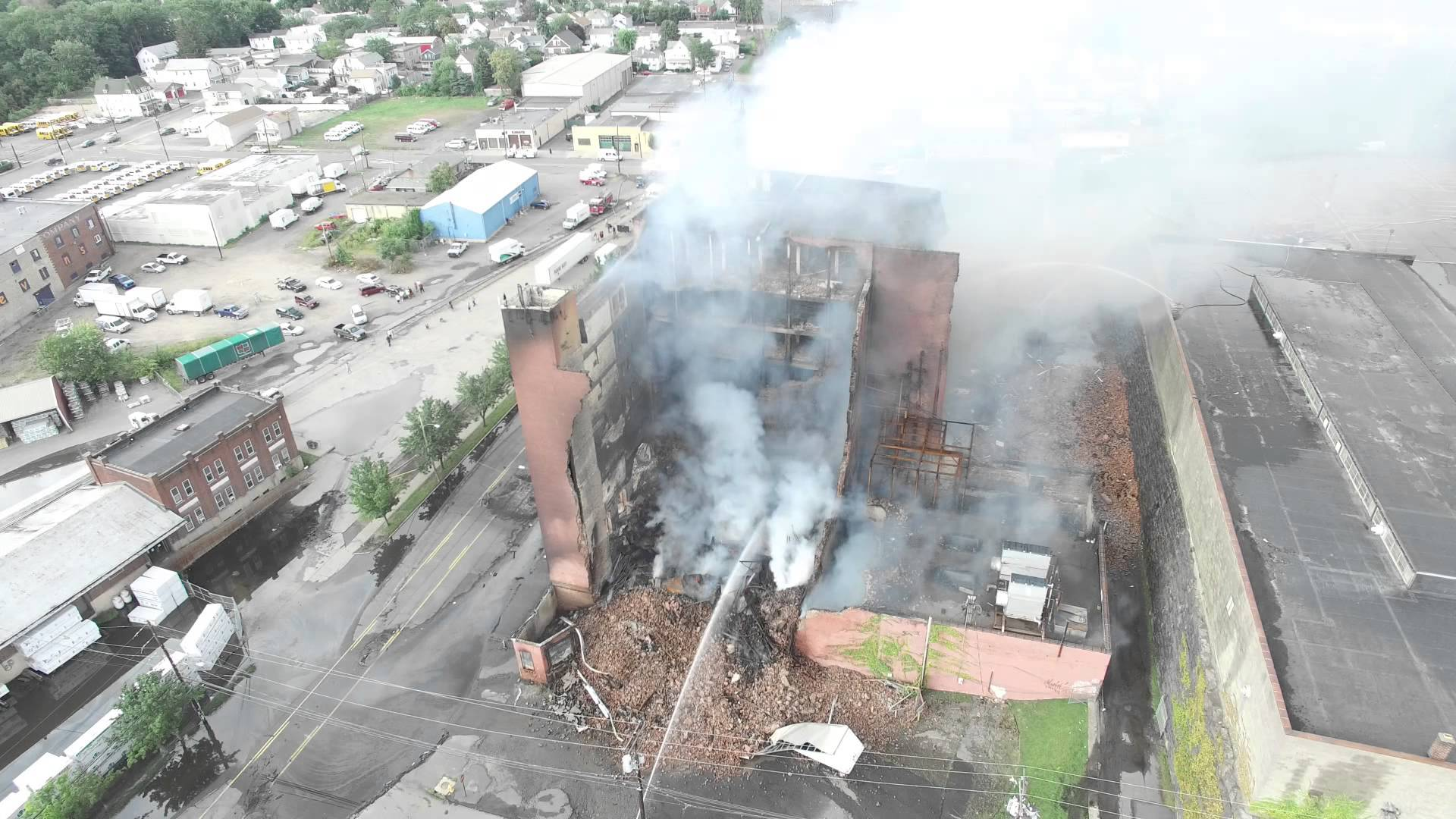 8/27/15 - 24 hours after Sandone Tire Warehouse Caught Fire in Scranton PA.