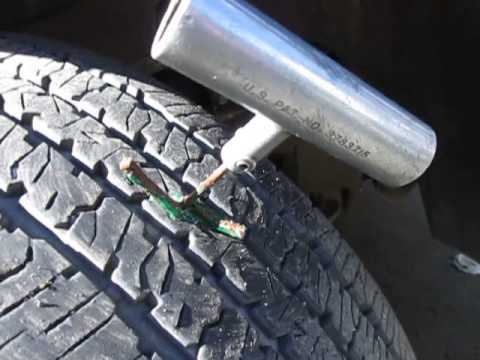 How to Repair  a  Punctured  Tubeless Truck Tire