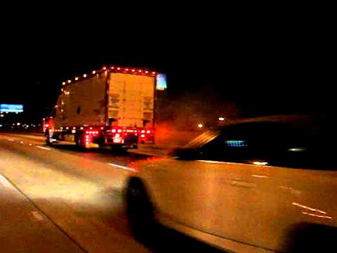 Semi Truck tires smoking almost on FIRE