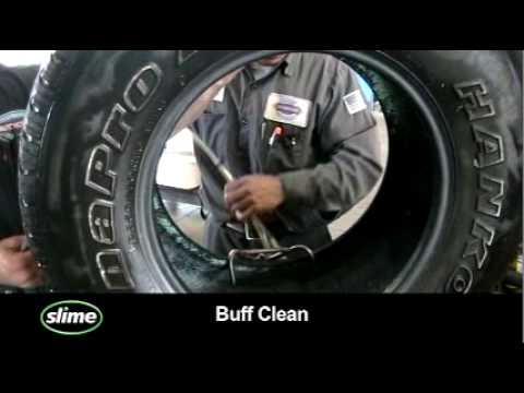 Tire Sealant Clean-Up and Tire Repair