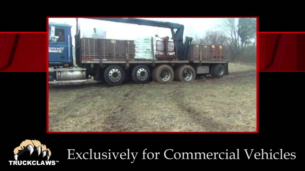 TruckClaw Alternative Traction Aid for Commercial Vehicles video 2