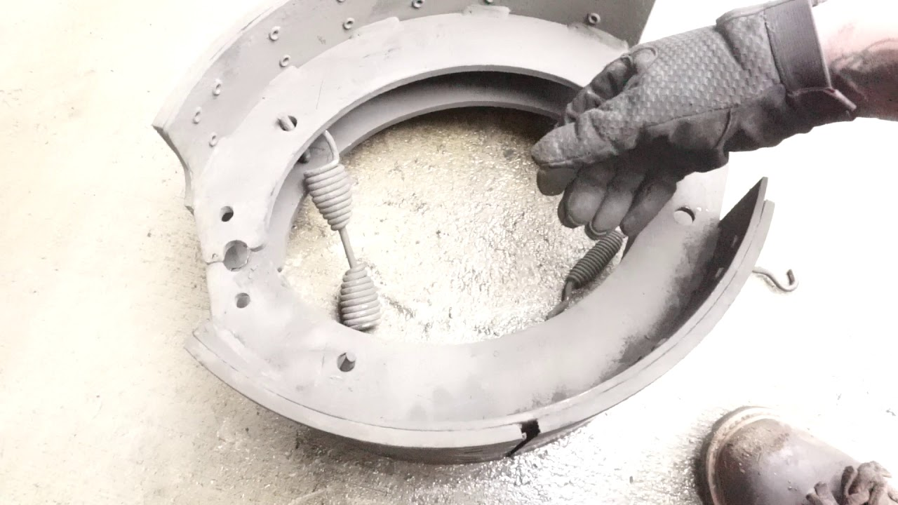 How to change semi truck brakes