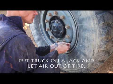 semi truck tire size