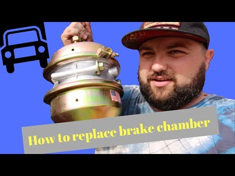 semi truck air brake chamber replacement