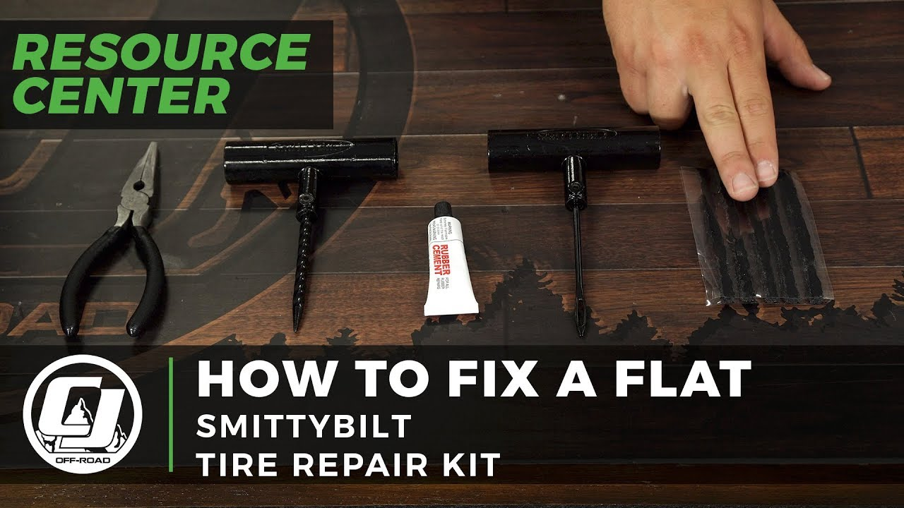 How to fix a Flat with the Smittybilt Tire Repair Kit