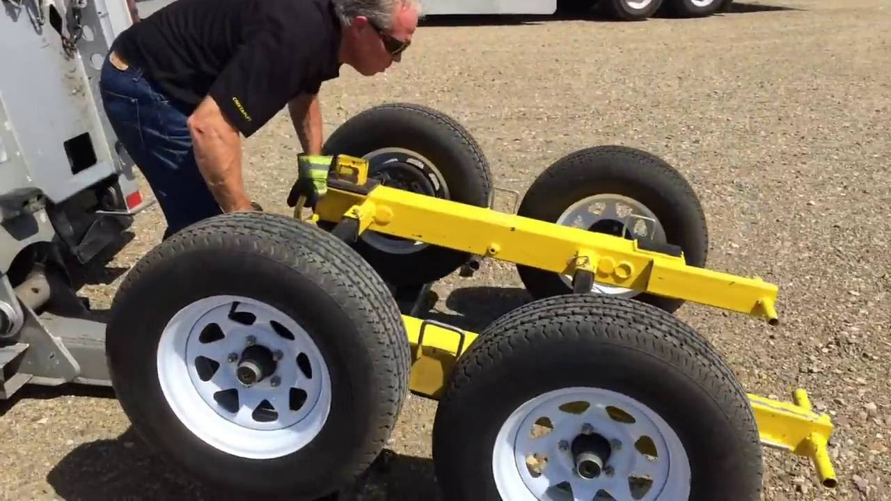 Invention used for towing storage containers