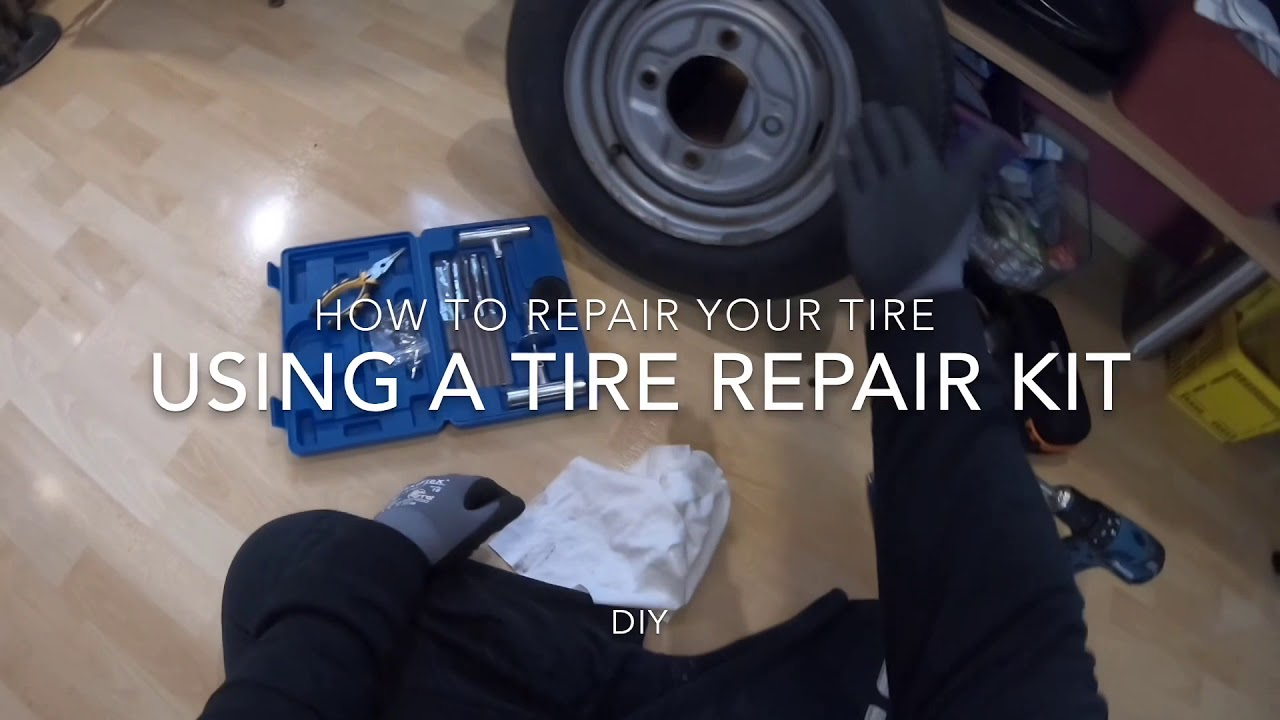 How to repair your flat tire with a tire repair kit for Car, bike, ATV, Jeep, Truck DIY