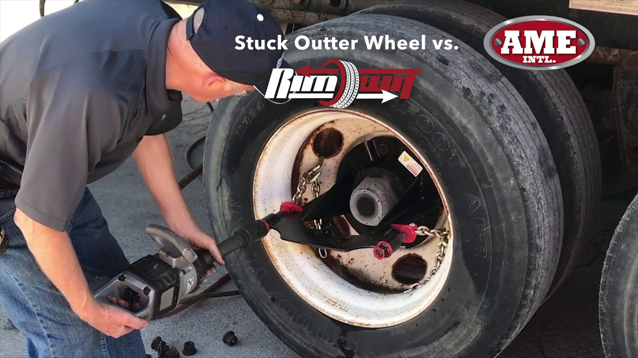 Remove seized rim from wheel during tire service - RIMWIT by AME International