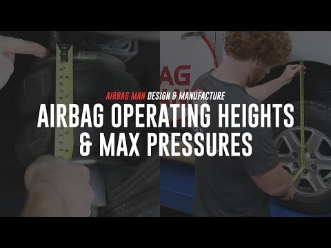 Airbag Operating Heights & Max Pressures by Airbag Man Suspension