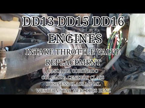 Freightliner cascadia DD13 DD15 DD16 intake throttle valve replacement  OM 471 OM 472 OM 473