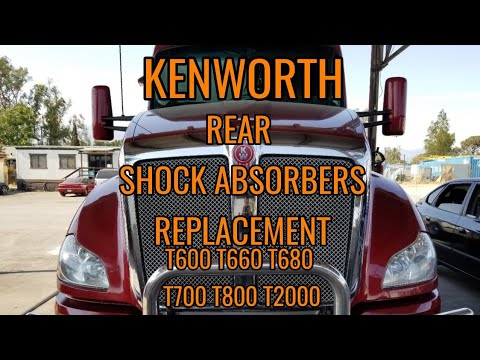 Kenworth T680 rear shock absorbers replacement T660 T600 T700 T800 T2000