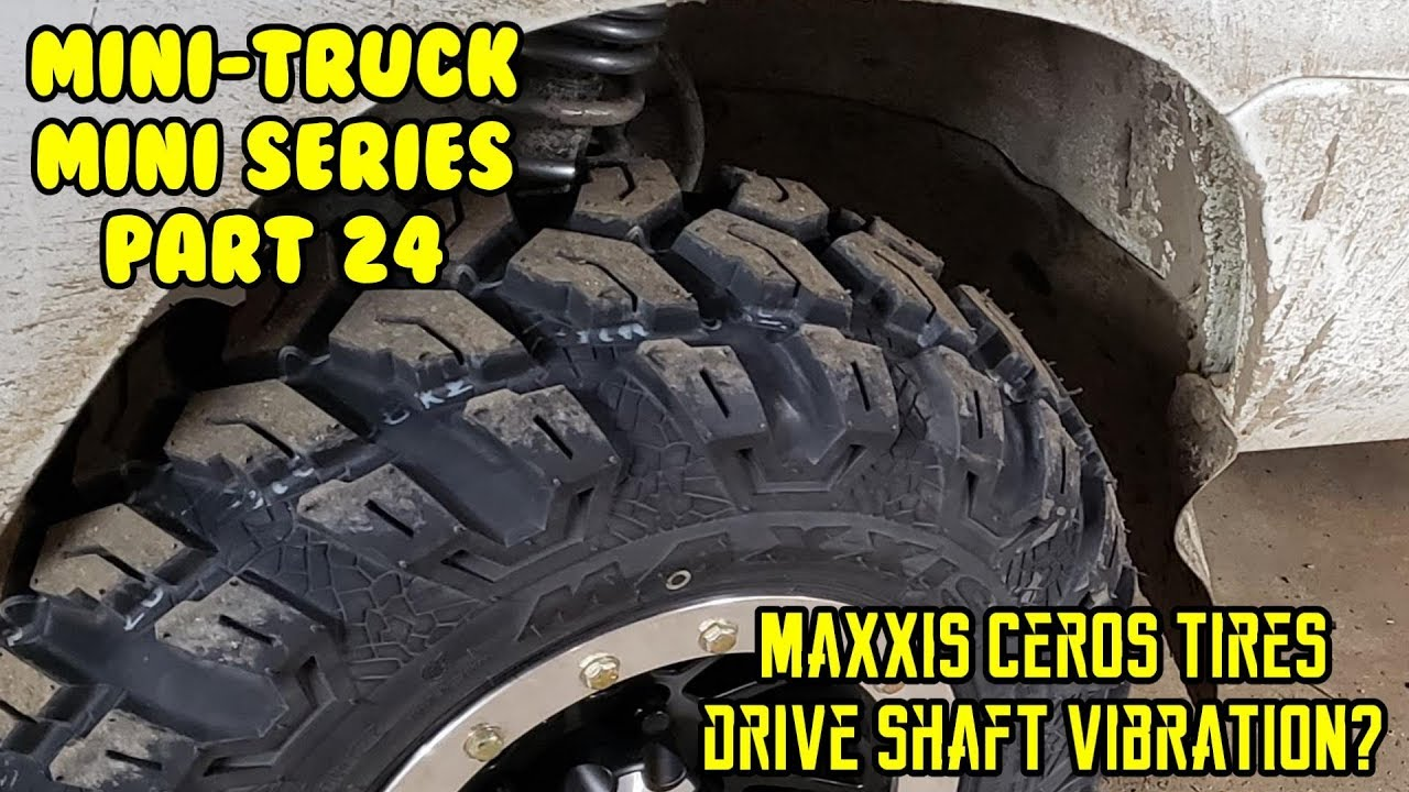 Mini Truck Maxxis MU07 Ceros tires, Review test drive, Driveshaft vibration S83p HiJet (Part 24)