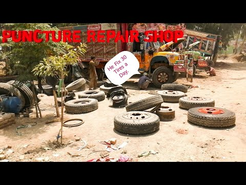 Big semi  Truck Tires Repair /How is harvested old tire Repairs