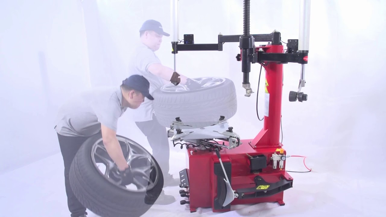 Unite Tire Changer Operation Video:U-2092A Semi Automatic Swing Arm Tire Changer