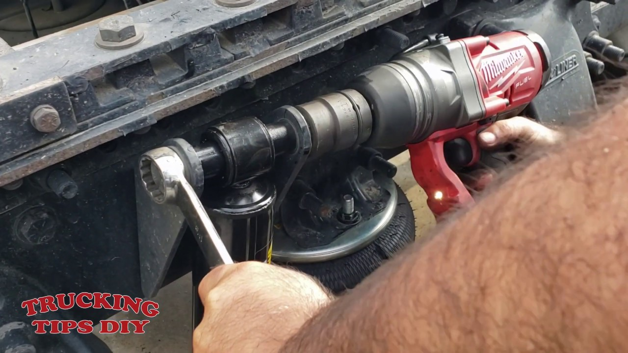 How to replace shocks on semi truck Freightliner cascadia kenworth volvo