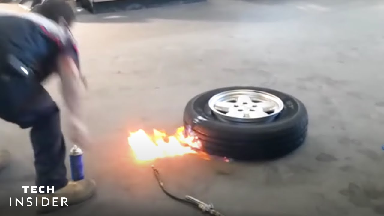 Science Behind Using Fire To Mount Car Tires