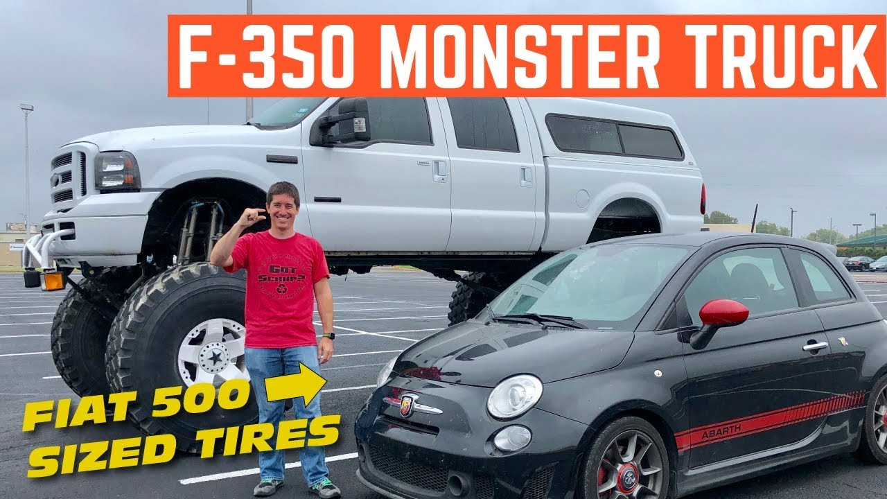 "We FIXED A MONSTER Truck Ford F-350 on 53"" Tires"