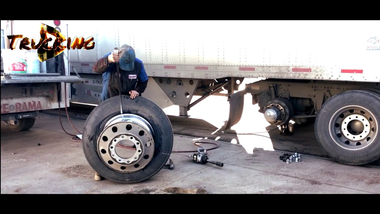 FAST SEMI TRUCK tire fix change .....