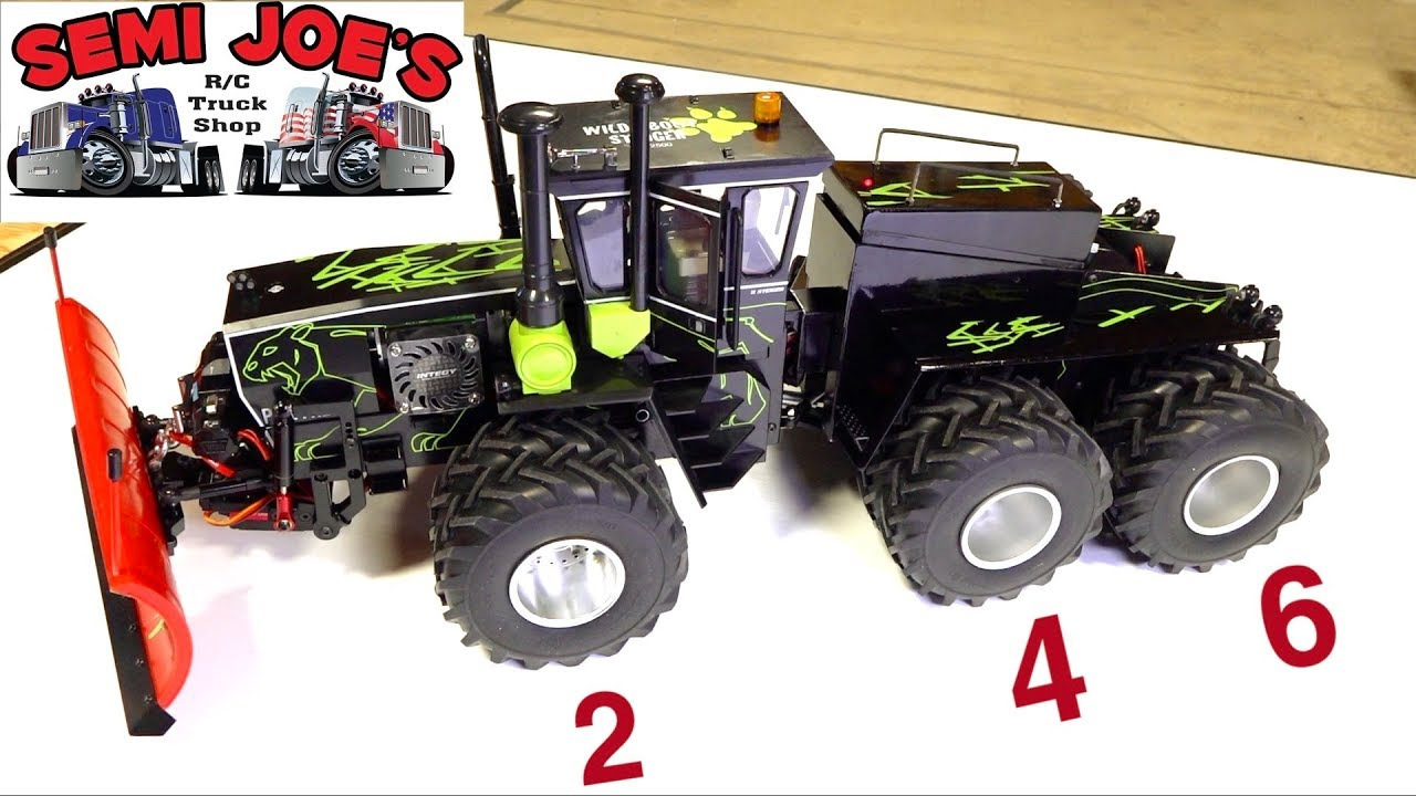 "RARE 12 TIRE 6X6 STIEGER PANTHER TRACTOR -  ERTL CONVERSION ""SEMI JOE TRUCK SHOP"" 