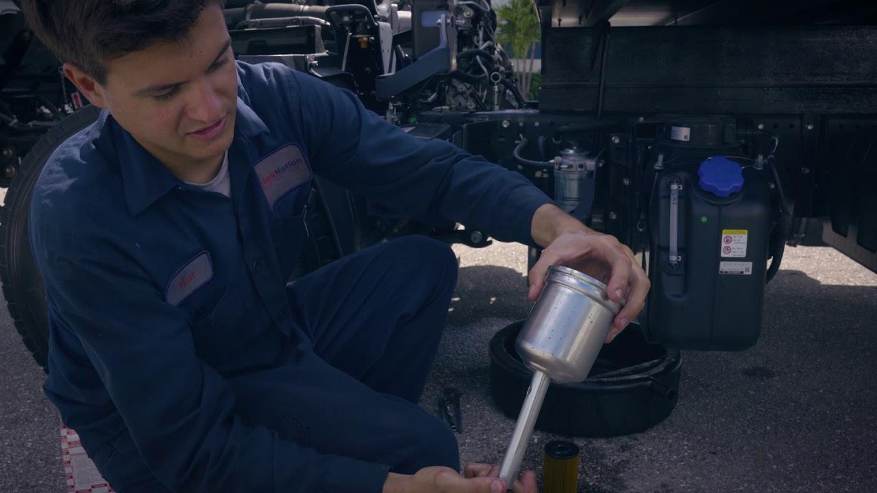 ISUZU NRR Fuel Filter Service