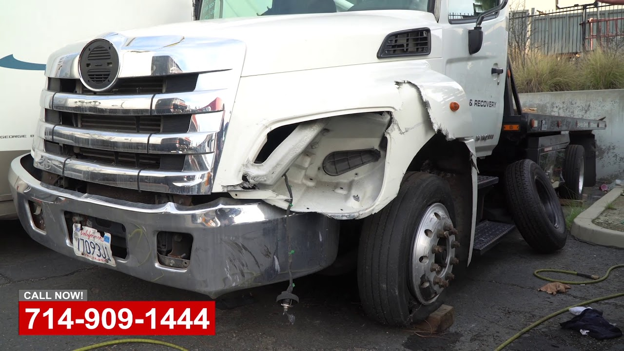 Tow Truck Collision Repair Shop