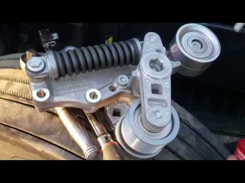 How to replace Freightliner Cascadia Belt tensioner and serpentine belts DD15 DD13