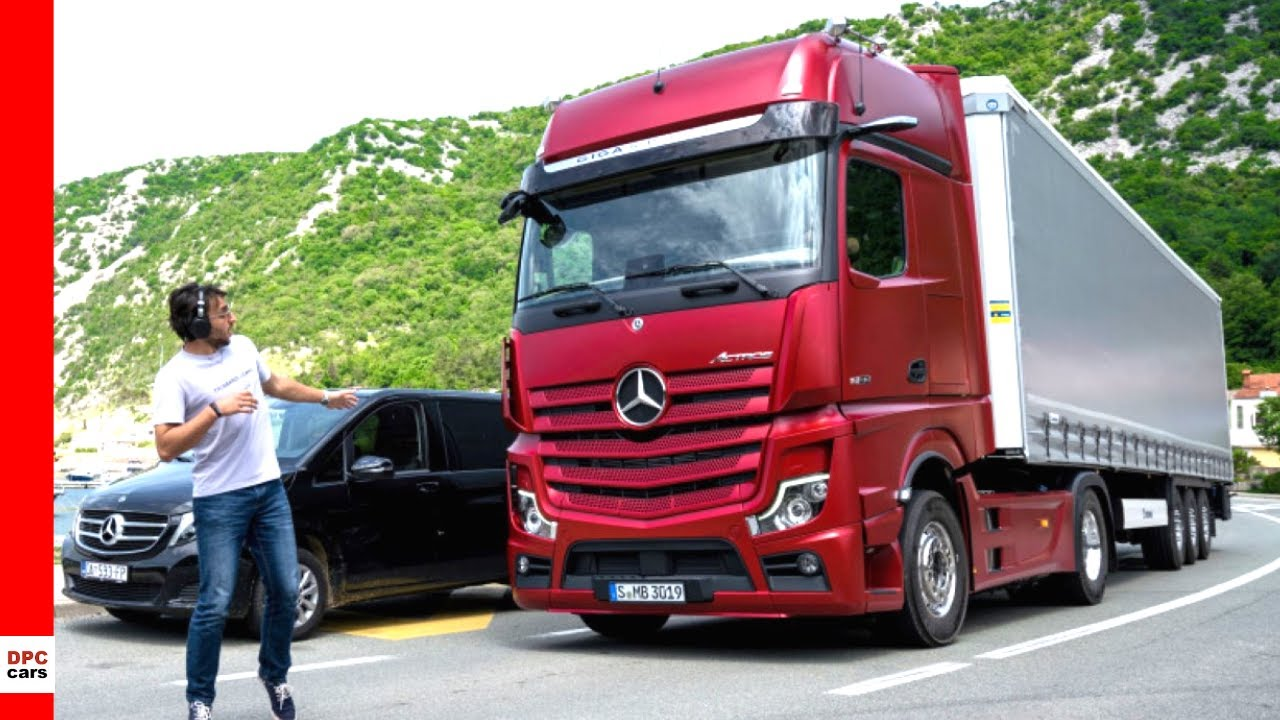 2020 Mercedes Actros Semi Truck Sideguard and Safety Features