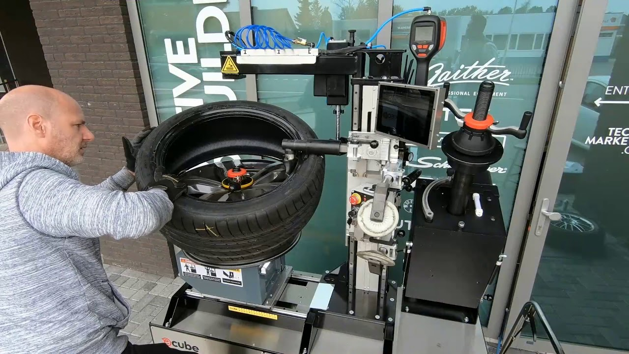 mobile tire mounting instruction with ecube generation 3