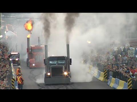 Amazing Semi Truck Drag Racing,Big Rig Burnout,Loaded Trucks
