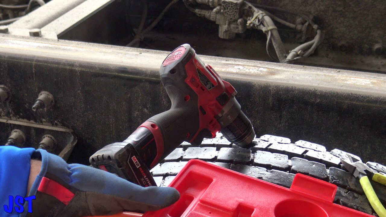 HOW TO PLUG A SEMI TRUCK TIRE