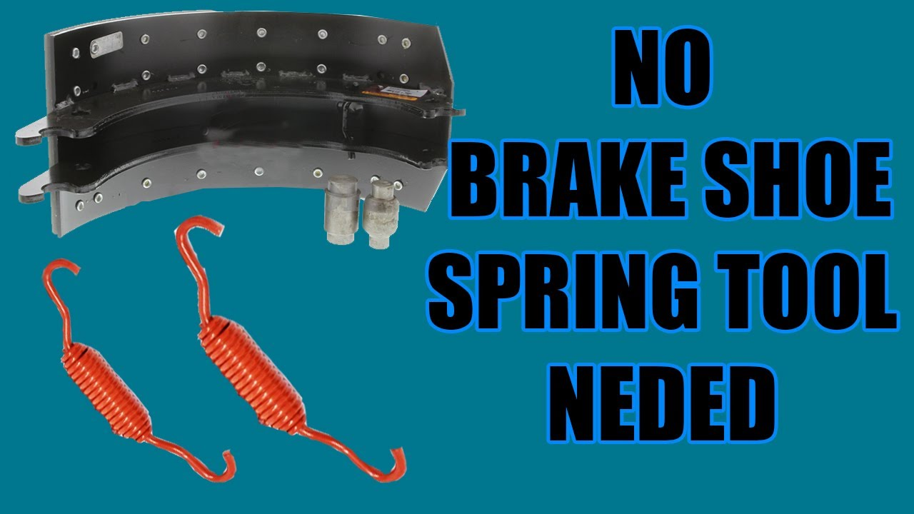 How to remove and replace brake shoe springs on semi truck / No brake spring tool needed