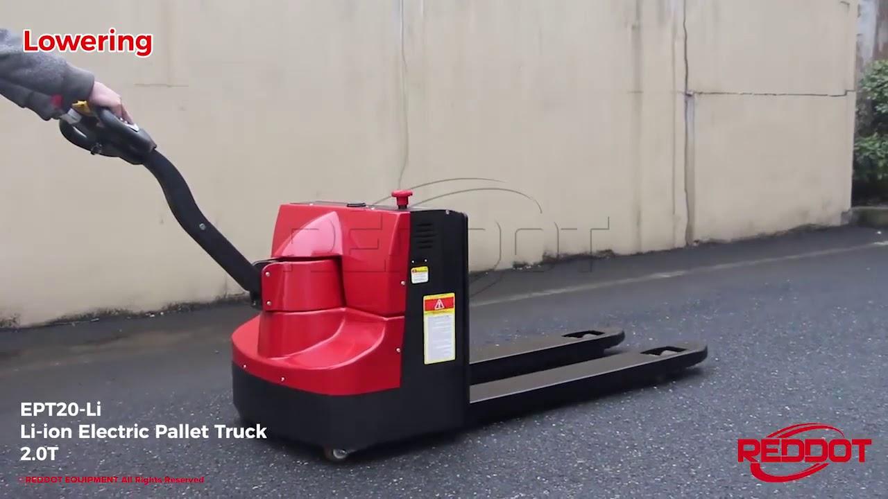 Low Profile Heavy Duty Battery Electric Pallet Trucks - Hand Jack