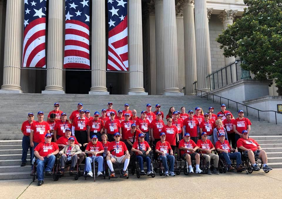 Kansas Honor Flight veterans gather in Washington DC