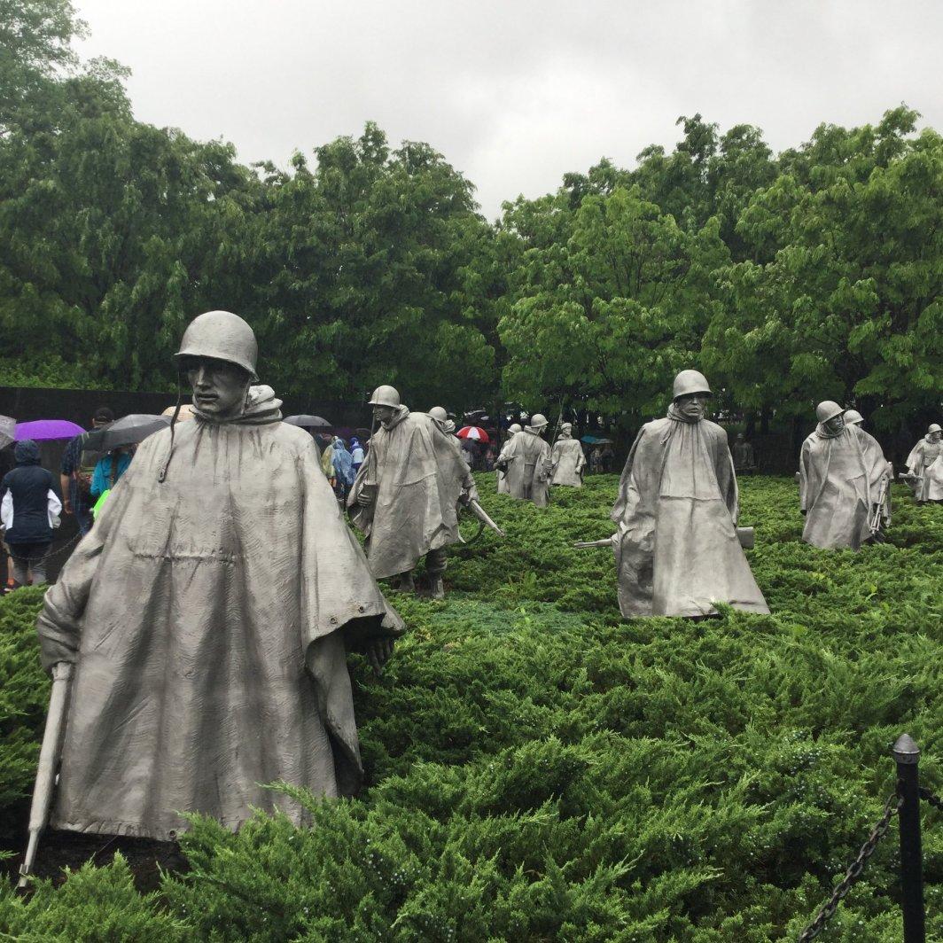 Kansas Honor Flight at the Korean War Memorial