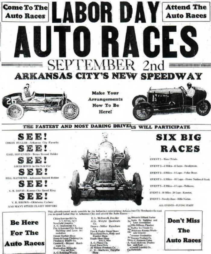 Newspaper Articles Pertaining to Automobile Racing at