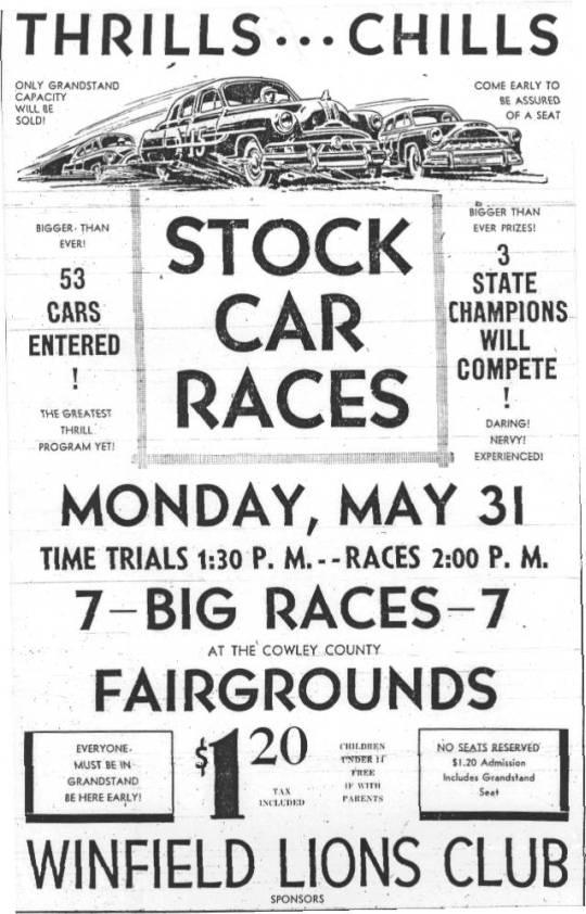 Memorial Day Stock Car Races, May 31, 1954