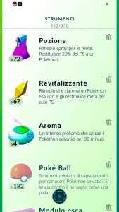 Pokemon Go Italian items