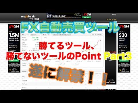 【FX自動売買ツール/詐欺ツール】FX自動売買ツール・勝てるツールと負けるツールのPoint Part3