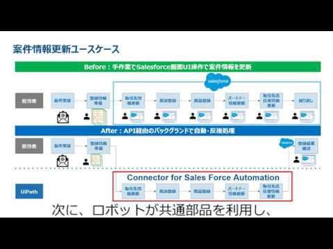 【RPA デモ】UiPath+Salesforce REST APIで実現するバックグランド自動化処理