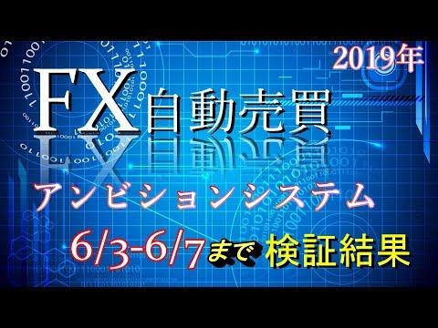 FX自動売買アンビションシステム6/3-6/7までの80万運用検証結果