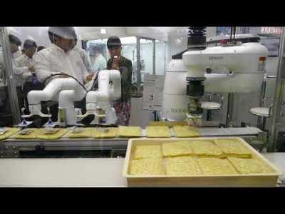 デンソーウェーブとOSARO 袋麺包装工程の自動化