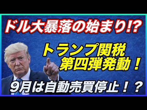 【FX暴落】米中貿易戦争  追加関税発動!ドルの暴落が始まる!?