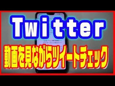 【Twitter使い方】ツイッターで動画を小さい画面で表示する