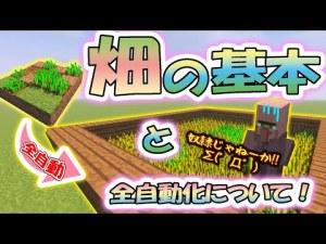 【マイクラ学校】畑の基本と全自動化について!! ~5時間目~【Minecraft】