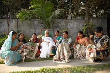 Surayia Rahman and some of the women of Arshi.  Photo copyright by Anil Advani and Kantha Productions LLC,
