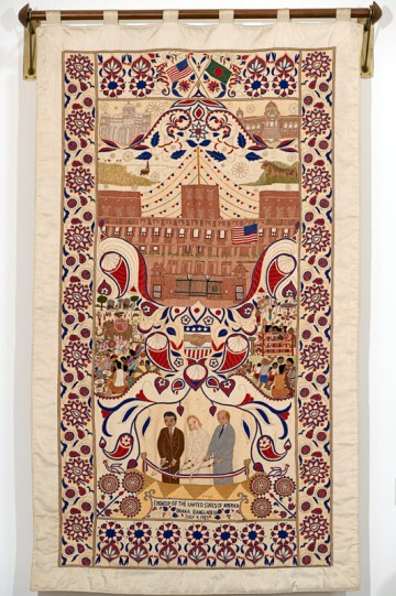 Nakshi kantha tapestry commissioned for the opening of the US Embassy in Dhaka, 1989.  Surayia Rahman design.  Photo: Anil Advani.