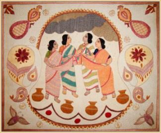 """Rain Making Ladies.""  Surayia Rahman design, used with permission of the owner.  Photo copyright Anil Advani andKkantha Productions LLC."