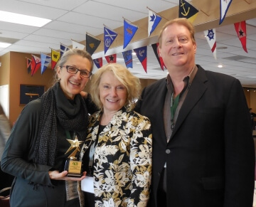 "With Gig Harbor Film Festival Executive Director Marty Thacker after receiving the award for ""Threads."""