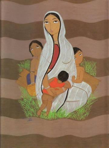 Painting by Surayia Rahman, Bangladesh – The Flood